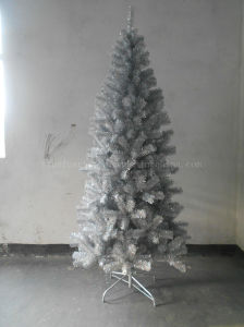 210cm holographic silver tree