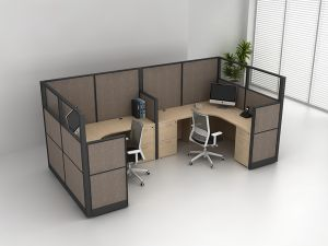 China 6 Person Cubicle Workstation Partition Modular Office Desk