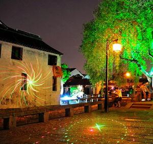 RGB Moving Flower Patterns Laser Light Christmas Decoration Laser Lighting Projector for Outdoor Garden Landscape