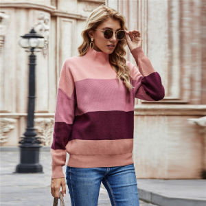 2021 New Design Striped Sweaters Women Oversized Plus Size Pullover Sweaters Striped