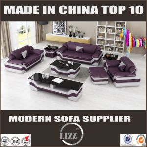 Fashion American Style Modern Leather Sofa with TV Stand pictures & photos