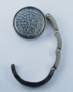 Rhinestones Foldable Bag Hook (BHF102)