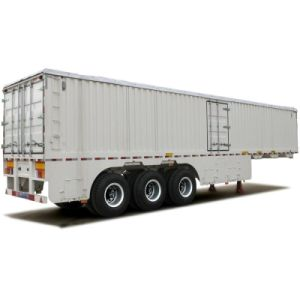 3 Axles Van Box Trailer for Cargo Transportation with Gooseneck for Option