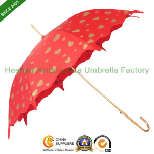 Chinese Red Heart Wedding Umbrella for Brides (SU-0023GW)