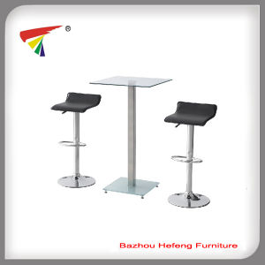 Bar Set with 2 Stools Glass Furniture (B007) pictures & photos