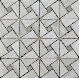 Triangle Mosaic Tile Gray Marble Stone Mosaic pictures & photos
