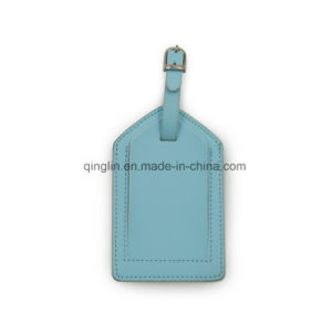 Top Quality White PU Leather Luggage Tag