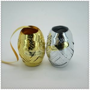 Iridescent Foil 3 Sets Ribbon Egg for Birthday Gift Packaging pictures & photos