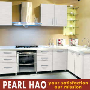 Modern Melamine Kitchen Cabinets Plywood Carcass L Style pictures & photos