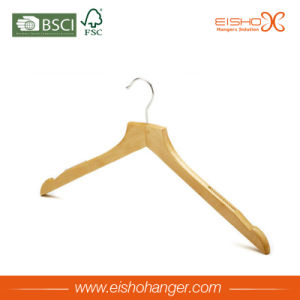 Semi Contoured Body Wood Clothes Hanger pictures & photos