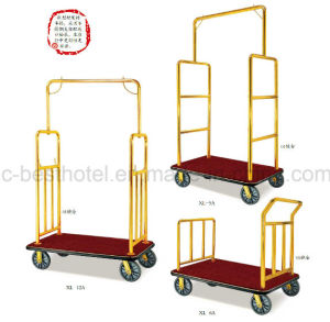 Used Hotel Metal Luggage Trolley High Quality Airport Luggage Cart pictures & photos