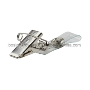 Metal Strap Badge Clip with Safety Pin pictures & photos
