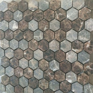 Hot Sell Hexagon Marble Tile Stone Mosaic Floor Tile