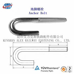 Anchor Bolt J Type Bolt with Nut and Washer HDG Coating