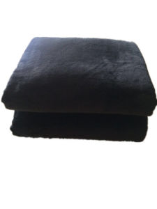 Sr-B20170520 High Quality Solid Flannel Blanket with White Sherpa Backside