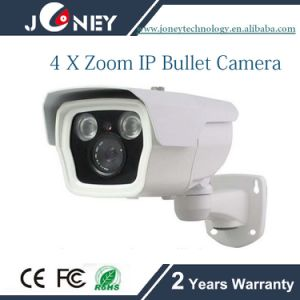 H. 264 & Mjpeg Dual-Stream 4X Zoom Outdoor Waterproof IP Camera pictures & photos