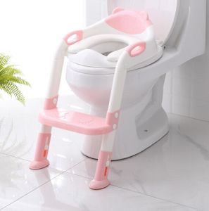 Sensational 2019 New Plastic Fashion Childrens Ladder Toilet Folding Potty Seat Kids Lovely Potty Baby Step Stair Closestool Short Links Chair Design For Home Short Linksinfo