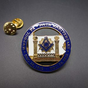 Masonic Lapel Pins with Gold Plated, No MOQ for Custom Badges