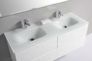 Double Basin Bathroom Cabinet with Soft Closing pictures & photos