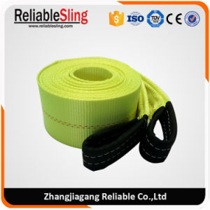 4 Inch Safety Light Color Polyester Recovery Tow Straps pictures & photos