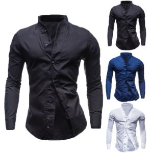 Fashion Style 100%Cotton Men′s Slim Fit Dress Shirt (A443)