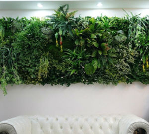 china high quality artificial plants and flowers of green wall gu