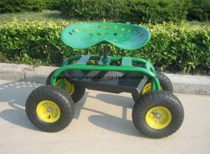 Steel Garden Work Seat Cart