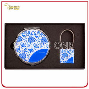 Classical Makeup Mirror and Keychain Gift Set pictures & photos