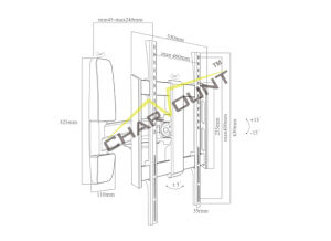 26′′-55′′ Aluminum Tilting LCD TV Wall Bracket (CT-LCD-Ik101) pictures & photos
