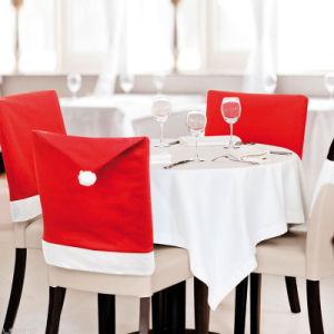Christmas Chair Back Covers.Chair Cover Christmas Dinner Table Party Red Hat Chair Back Covers Xmas Decoration 2017