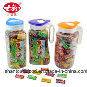 Trapezoidal Kettle Bubble Gum with Tattoo pictures & photos
