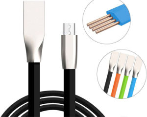 1 M TPE Flat Line Noodles Micro USB Phone Fast Charging Cable for Android iPhone (XSSJ-009)