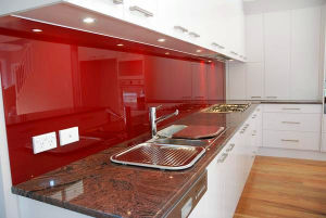 Tempered Painted Glass Kitchen Splashback with AS/NZS2208: 1996, BS6206, En12150 Certificate pictures & photos