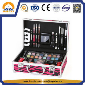 Stylish Pink Zebra Train Case Aluminum Case Makeup Organizer (HB-1025) pictures & photos
