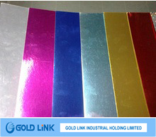 China Made Decorating Use Colorful Silver Aluminium Foil Paper