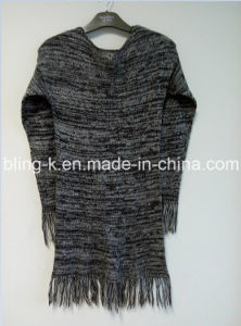 Spring Fall Wool Mixed Tassel Dress for Lady/Women