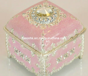 China OEM Fancy Pink Jewelry Box Luxury Clamshell Ring BoxNecklace