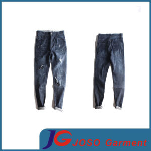 New Elastic Skinny Destoryed Distressed Jeans for Men (JC3398) pictures & photos