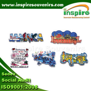 OEM Rectangle Polyresin Fridge Magnet for Souvenir (PMG097) pictures & photos