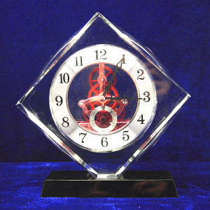 High Grade Crystal Glass Square Clock Office Decoration pictures & photos