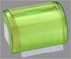 Jumbo Hotel Publicl Toilet Wholesale Green Translucent Round Plastic Wall Mounted Tissue Paper Towel Roll Dispenser