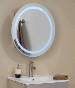 Lucent Round Stainless Steel Medicine Cabinet With Lighted Mirror (LZ 020)