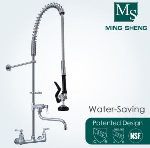 Wall Mount Pull out Spray Water Saving Pre-Rinse Dishwasher Commercial  Kitchen Faucet