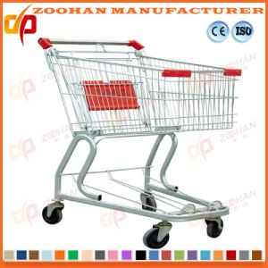 Metal Wheeled Shopping Trolley Folding Strong Supermarket Shopping Cart (Zht178) pictures & photos