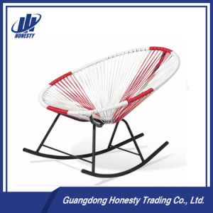 PE RC03 Mixed Color Lounge Egg Shape Rattan Rocking Chair