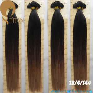 1b/4/27# Indian Virgin Pre Bonded Ombre Hair Extensions