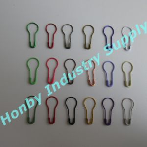 Honby Suppliers 22mm Colorful Pear Coiless Hang Tag Pins