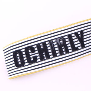 Thick Woven/Embroidered Logo Polyester/Nylon/Cotton Strap Elastic for Army pictures & photos