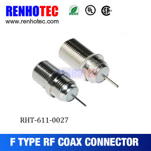 Straight F Type RF Connector Crimp Cable F Female Connector pictures & photos