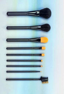 New 9PCS Synthetic Hair Cosmetic Makeup Brush with Stand